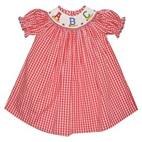 Silly Goose Back To School Smocked ABC Bishop