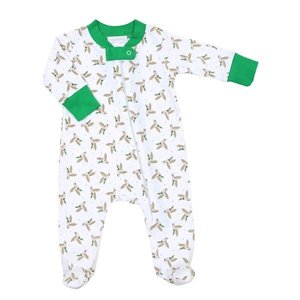 Magnolia Baby Duck Life Printed Zipped Footie