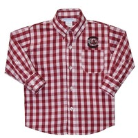 Vive La Fete South Carolina Maroon Big Check Button Down Shirt