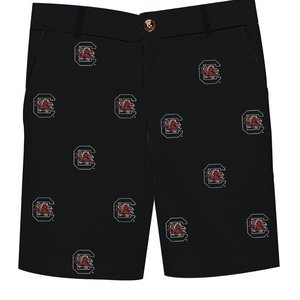 Vive La Fete South Carolina Embroidered All Over Short