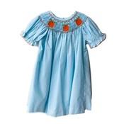 Honesty Clothing Company Pumpkin Smocked Bishop Dress