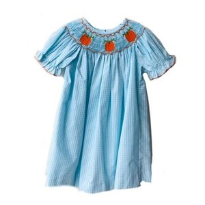 Honesty Clothing Company Pumpkin Smocked Bishop Dress
