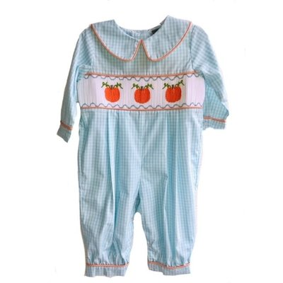 Honesty Clothing Company Pumpkin Smocked Boys Bubble