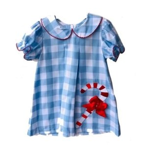 Honesty Clothing Company Candy Cane Applique Dress