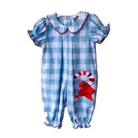 Honesty Clothing Company Candy Cane Applique Girls Bubble