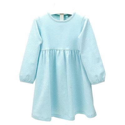 Ishtex Textile Products, Inc Aqua Stripe Empire Dress