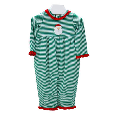 Ishtex Textile Products, Inc Santa Applique Girl Romper