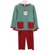 Ishtex Textile Products, Inc Santa Applique Pants Set w/Pockets