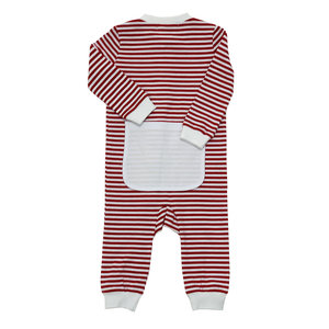 Ishtex Textile Products, Inc Red/White Stripe Unisex Onesie