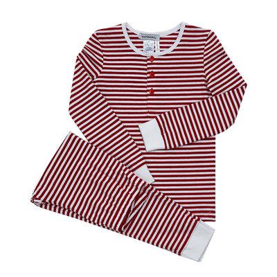 Ishtex Textile Products, Inc Red/White Stripe Boy's PJ Set