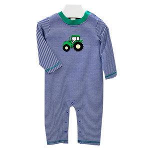 Ishtex Textile Products, Inc Tractor Applique Boy's Romper