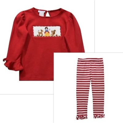 Vive La Fete Forever Friends Snow White Smocked Pant Set