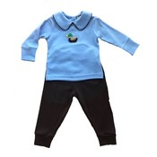 Luigi Blue and Brown Mallard Pant Set