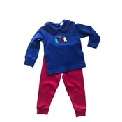 Luigi Navy and Red Fish Pant Set