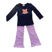 Luigi Navy Pink and White Fox Pant Set