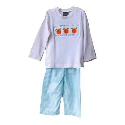 Honesty Clothing Company Pumpkin Smocked Boys Set