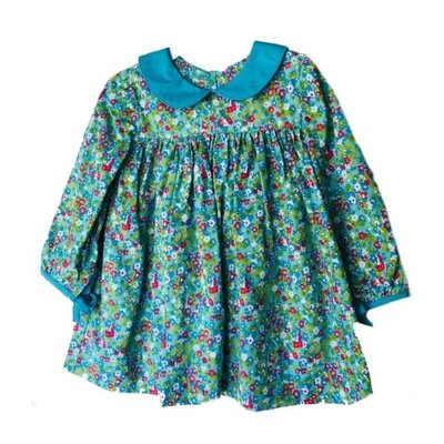Sage & Lilly Mini Turquoise Floral Bow Sleeve Dress