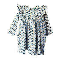 Sage & Lilly Mini Blue Floral Angel Wing Dress