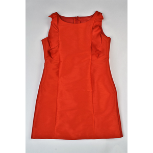 Maggie Breen Red Ruffles A-line Dress