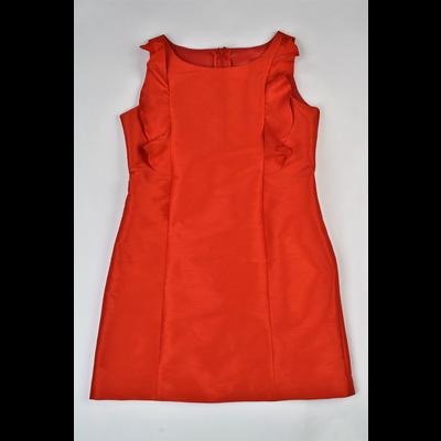 Maggie Breen Red Ruffles A-line Dress