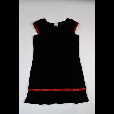 Maggie Breen Black Stretch Velvet Dress