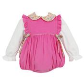 Petit Bebe Bubblegum Pink Cord Bubble w/Side Bows
