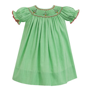 Petit Bebe Christmas Tree Smocked Bishop