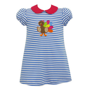 Claire & Charlie Turkey Applique Knit Dress