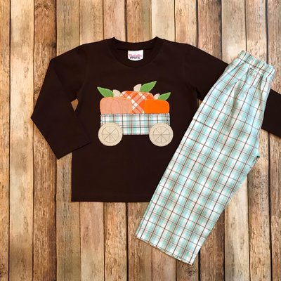Natalie Grant Pumpkin Boy's Pant Set