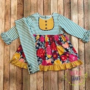 Natalie Grant Autumn Ruffle Dress/Legging Set