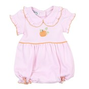 Magnolia Baby Vintage Little Pumpkin Embroidered Pink Bubble