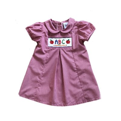 Delaney ABC Smocked A-Line Pleated Dress