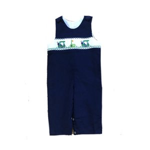 Delaney Navy Cord Smocked Golf Longall