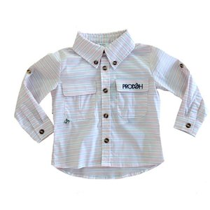 Prodoh Ballerina Striped Vented Back Fishing Shirt