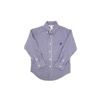 Beaufort Bonnet Company Deans List Dress Shirt Nantucket Navy Gingham