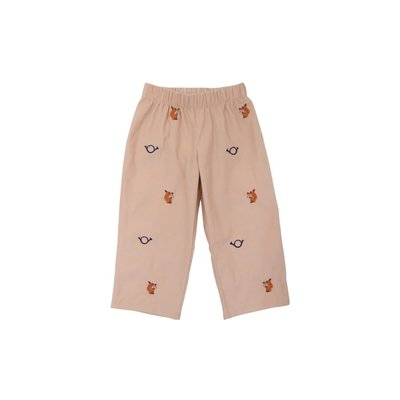 Beaufort Bonnet Company Critter Princeton Pant w/Embroidery Keeneland Khaki/Fox and Horn