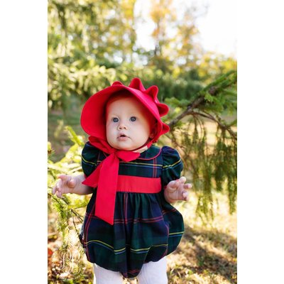 Beaufort Bonnet Company Cindy Lou Bubble Horse Trail Tartan/Richmond Red