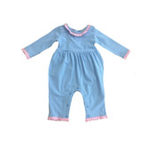 Ishtex Textile Products, Inc Elephant Group Blank Girl Romper