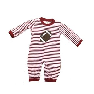 Zuccini Football Red Stripe Knit Romper