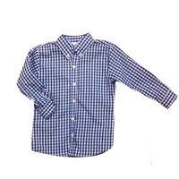 Zuccini Royal Blue Check Woven Dress Shirt