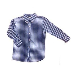 Zuccini Royal Blue Check Woven Dress Shirt
