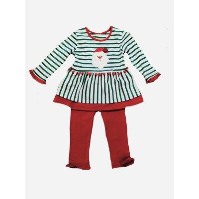 Be Mine Holiday-Santa Girl's Pant Set