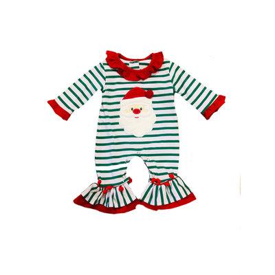 Be Mine Holiday-Santa Girl's Romper