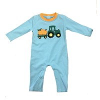 Be Mine Pumpkin Applique Boy's Romper