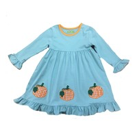 Be Mine Pumpkin Applique Dress
