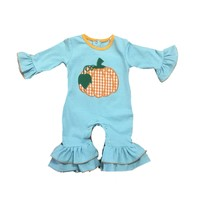 Be Mine Pumpkin Applique Girl's Romper