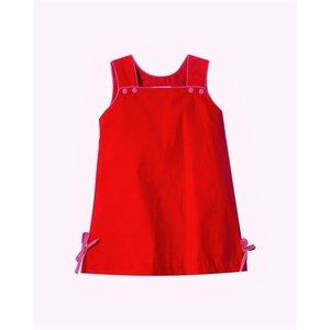 Zuccini Keiley Red Corduroy Dress