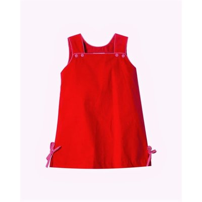 Zuccini Keiley Red Corduroy Dress