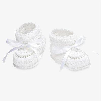 Elegant Baby/Baby Needs White Crochet Bootie