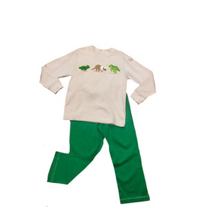 Squiggles Dinosaurs Khaki/Green Pant Set